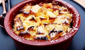 Clafoutis aux pommes, tonka