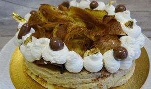 Gâteau de crêpes mousse café mascarpone