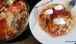 Gratin de chou, viande et riz comme à la Cluj en Transylvanie