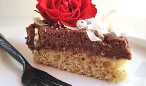 Gâteau nuage vanille et deux chocolats