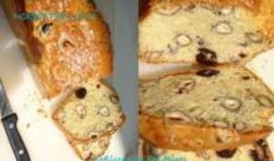 Cake aux Olives Noires & Noisettes