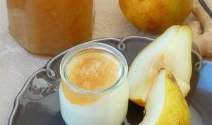 Confiture de poires au gingembre confit et vanille