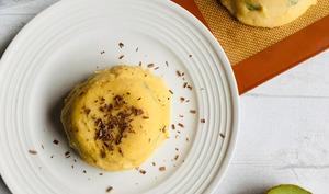 Flan de polenta au lait de coco et aux fruits frais