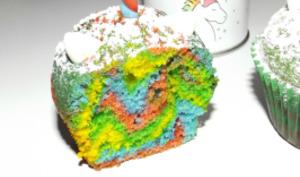 Muffins rainbow licorne