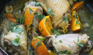 Cuisses de poulet à la mandarine et aux olives