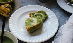 Bundt cake marbré matcha et vanille
