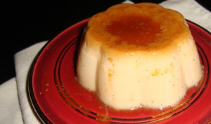 Flamby vanille et caramel