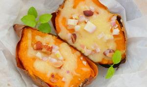 Patate douce gratinée à la mozzarella