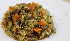 Quinotto alcalin aux légumes de saison