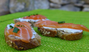 Toast saumon mascarpone