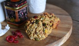 Biscuits aux flocons d'avoine, aux cranberries et aux graines de courge