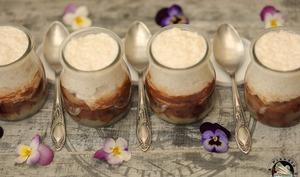 Crème dessert tapioca coco poire chocolat