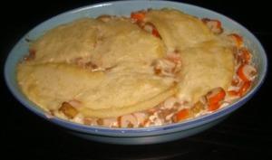 Gratin de crozets aux poireaux et au surimi