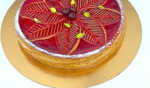 Galette pistaches-griottes