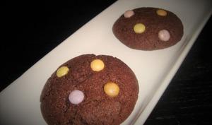 Cookies au chocolat noir et aux smarties