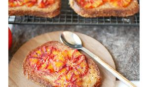 Tartelettes façon pain perdu à l'orange sanguine