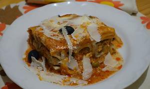 Lasagnes au poulet-pâte fraîche maison aux deux sauces et parmesan