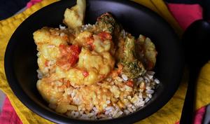 Curry de chou-fleur et brocoli