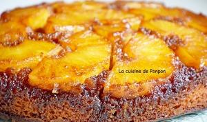 Gâteau à l'ananas frais caramélisé à la cassonade