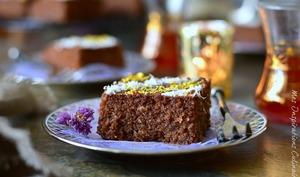 Gâteau de semoule au chocolat et noix de coco