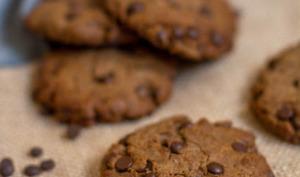 Cookies au sarrasin, tahini et chocolat noir