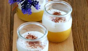 Crème au citron-orange meringuée