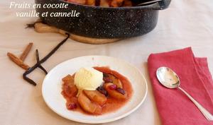 Cocotte de pommes et poires aux épices