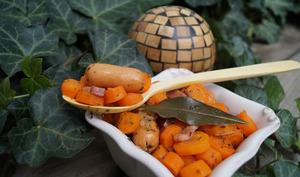 Cocotte de carottes aux saucisses