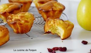 Muffin aux pommes, cranberries et lait concentré sucré
