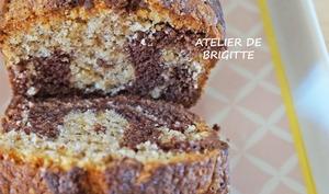 Cake marbré chocolat et noisettes