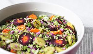 Salade colorée façon taboulé hivernal