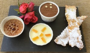 Trio de desserts gourmands