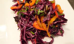 Salade aigre douce de chou rouge de Nigella Lawson