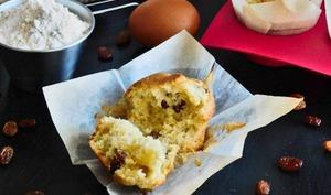 Mes muffins moelleux aux raisins secs