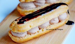 Éclair garni de mousse de foie gras au poivre de Sichouan