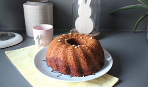 Bundt cake framboises beurre de cacahuète