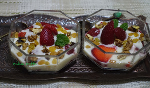 Verrines de fruits au yaourt maison