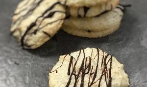 Petits gâteaux noix de coco et chocolat façon rochers ou congolais