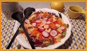 Salade sucrée salée de carottes