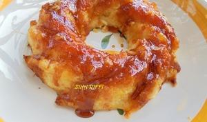 Pudding moelleux a la semoule et pommes caramélisées