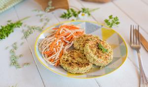 Galettes de flageolets et carottes