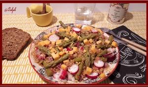Salade de Quinoa aux radis et asperges