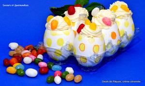 Œufs de Pâques à la crème citronnée