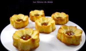 Fleurs aux pommes et au caramel au beurre salé