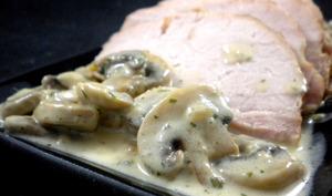 Rôti ardennais aux champignons et à la crème