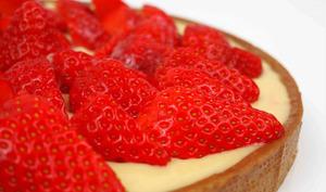 Tarte citron framboise et fraise