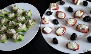 Concombre apéritif au caviar d'aubergines