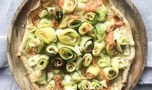 Tarte courgette saumon mascarpone