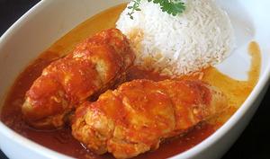 Blancs de poulet à la tomate
