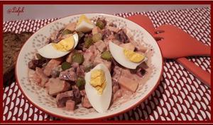 Salade de betterave aux pommes de terre